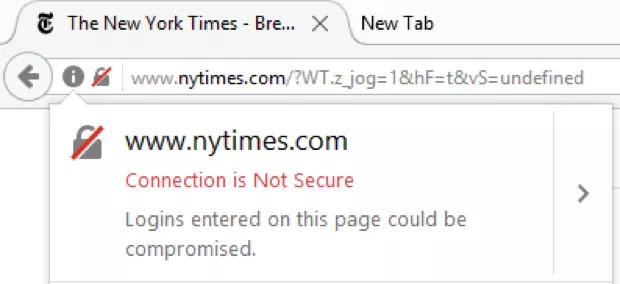 Ошибка безопасности Firefox