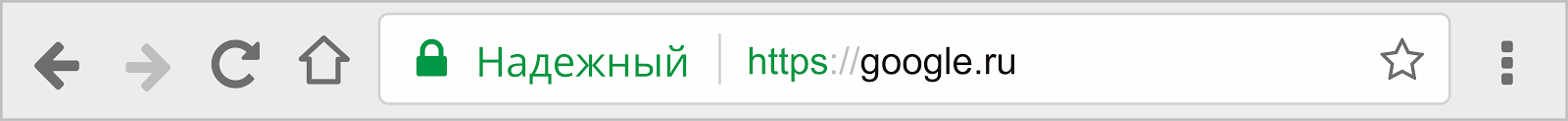 Надежный сайт в браузере